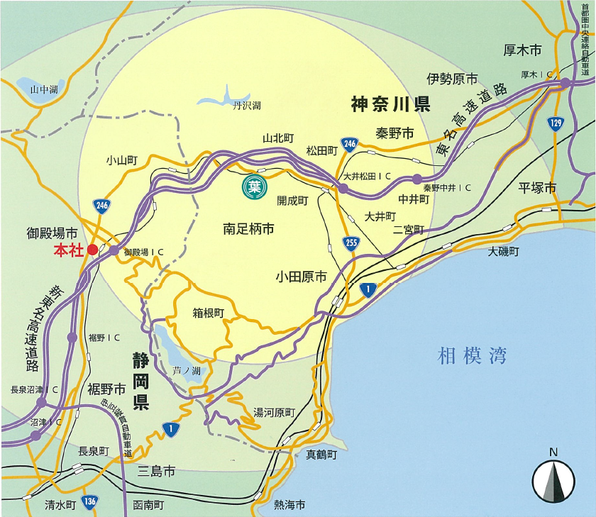 サービスエリア地図